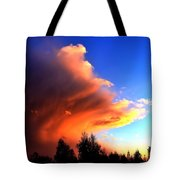 Red And Blue Sunset Tote Bag