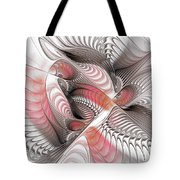 Red And Brown Tote Bag
