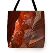 Red And Brown Swirling Sandstone Tote Bag