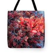 Red And Burgundy Succulent Plants Tote Bag