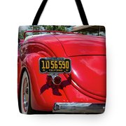 Red And Chrome Tote Bag