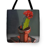 Red And Greed Cactus Tote Bag