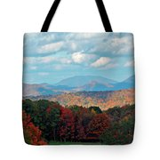 Red And Green Blue Ridge Mountains Tote Bag