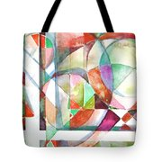 Red And Green Tote Bag by Mindy Newman