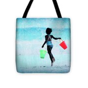 Red And Green Pails Tote Bag