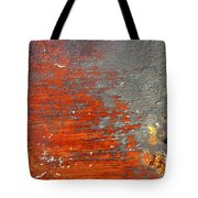 Red And Grey Abstract Tote Bag