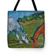 Red And His Mare Tote Bag