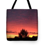 Red And Orange June Dawn Sky Tote Bag