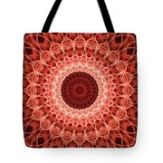 Red And Orange Mandala Tote Bag