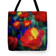 Red And Orange Tulips Tote Bag