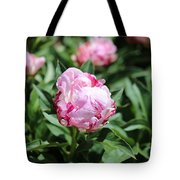 Red And Pink Peony Tote Bag