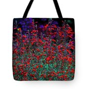 Red And Purple Flowers Tote Bag