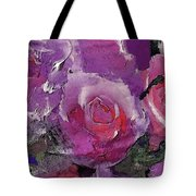 Red And Violet Roses Tote Bag