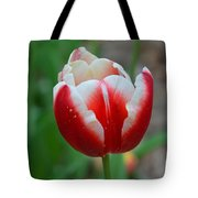 Red And White Bloom Tote Bag