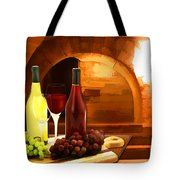 Red And White In The Cellar Tote Bag
