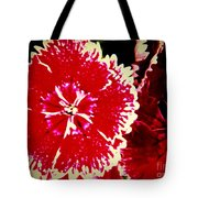 Red And White Mum Tote Bag