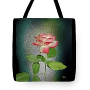 Red And White Rose5 Cutout Tote Bag