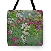 Red And White Roses Bright Toned Abstract Tote Bag