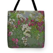 Red And White Roses  Medium Toned Abstract Tote Bag