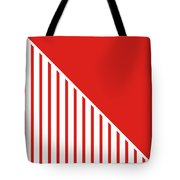 Red And White Triangles Tote Bag by Linda Woods