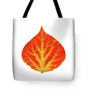 Red And Yellow Aspen Leaf 10 Tote Bag