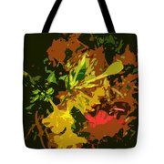 Red And Yellow Flowers Abstract Tote Bag