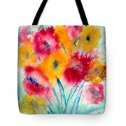 Red And Yellow Flowers Tote Bag