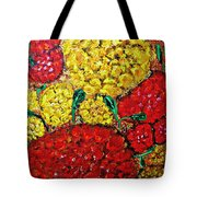 Red And Yellow Garden Tote Bag