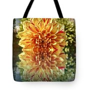 Red And Yellow Reflection Tote Bag