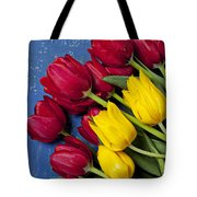 Red And Yellow Tulips Tote Bag by Garry Gay