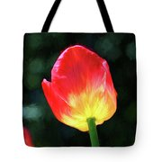 Red And Yellow Tulip - Photopainting Tote Bag