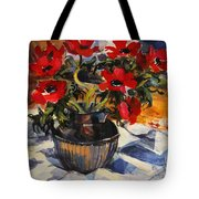 Red Anemones Tote Bag