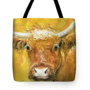 Red Angus Cow Tote Bag