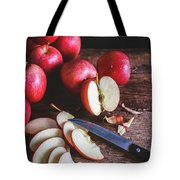 Red Apple Slices Tote Bag