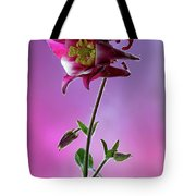 Red Aquilegia 2 Tote Bag