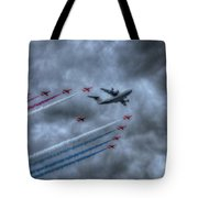 Red Arrows And A400m Airbus Tote Bag