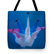 Red Arrows At Airbourne 2010 Tote Bag