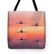 Red Arrows At Dawn Tote Bag