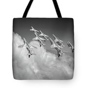 Red Arrows Sky High Bw Version Tote Bag