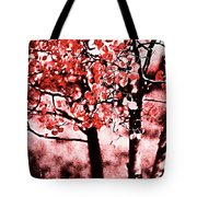 Red Aspen II Tote Bag
