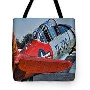 Red At-6 Tote Bag