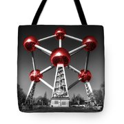 Red Atomium Tote Bag