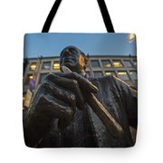 Red Auerbach Chilling At Fanueil Hall Tote Bag