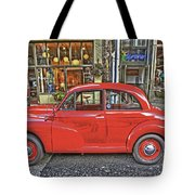Red Morris Minor Tote Bag