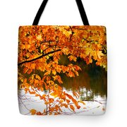 Red Autumn Leaves 2 Tote Bag