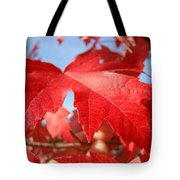 Red Autumn Leaves Fall Art Colorful Autumn Tree Baslee Troutman Tote Bag