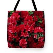 Red Azalea Blooms Tote Bag