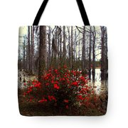 Red Azaleas In The Swamp Tote Bag