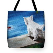 Red Ball Tote Bag by Mary Sparrow