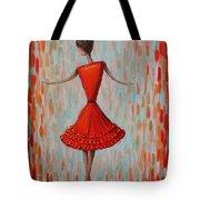 Red Ballerina Tote Bag